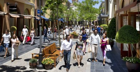 The Las Rozas Village shopping center outside Madrid.